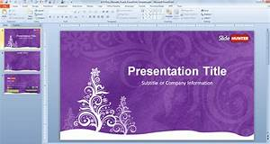 Free Purple Christmas Powerpoint Template