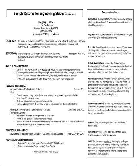 simple resume format  ms word