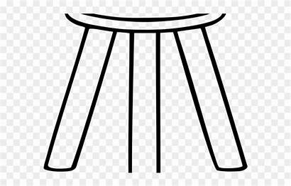 Stool Legged Clipart Three Legs Furniture Pinclipart