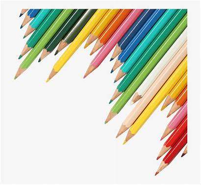 Background Clipart Transparent Pencils Without Banner Colored