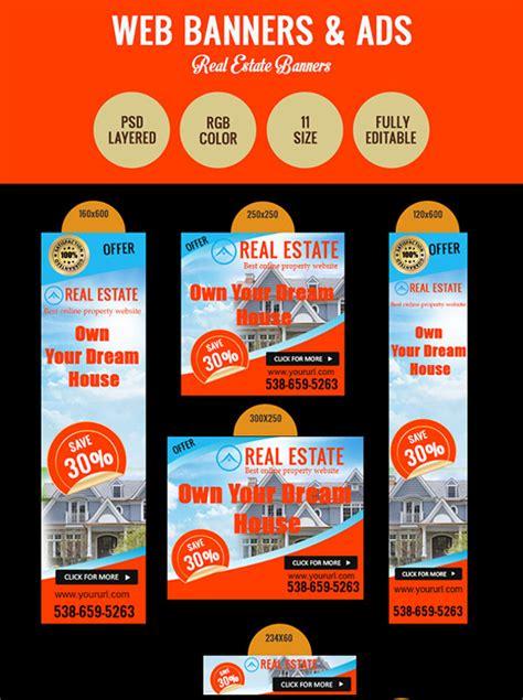 real estate banners psd eps ai jpg