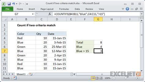 excel countif color excel formula count if two criteria match exceljet