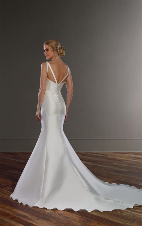 structured wedding dress  double  straps martina