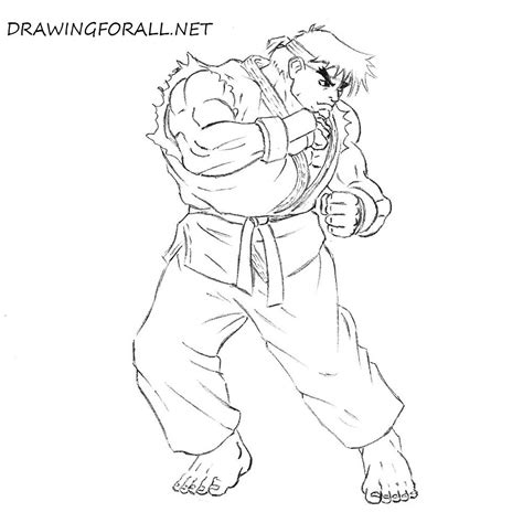 draw ryu  street fighter
