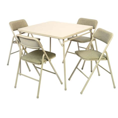 cosco table and chairs cosco 5 piece 34in card table and chairs set 14 551 whd