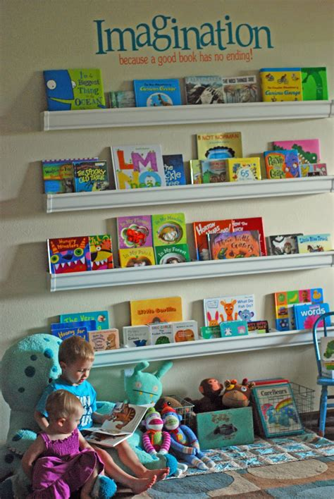 Do It Yourself Project Rain Gutter Bookshelves