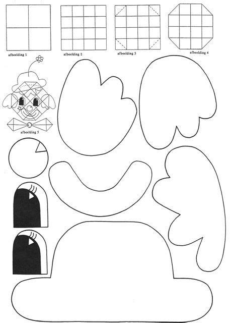 Kleurplaat Clown Strik by Kleurplaat Clown Strik Clown Vouwen En Knippen Plakken