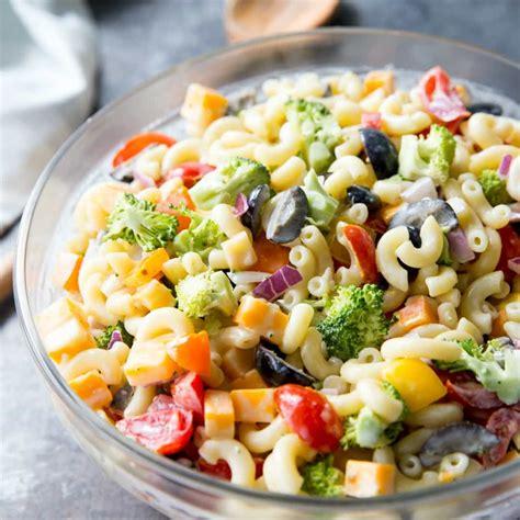 basic pasta salad recipe simple macaroni salad