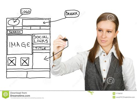 web design sketch royalty  stock photography image