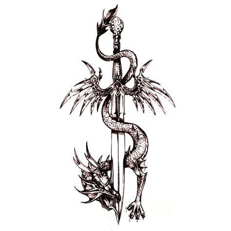 3pcs Dragon Sword Ūdensnecaurlaidīgus Pagaidu Tetovējumiem, vīrieši Harajuku Tetovējums, Uzlīmes ...
