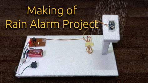 rain alarm project youtube