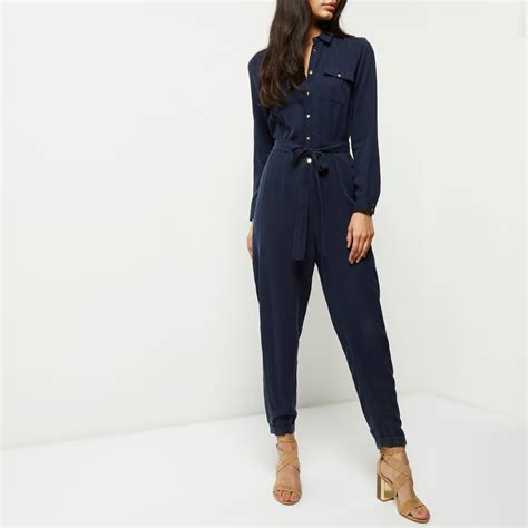 navy jumpsuit navy blue jumpsuit with sleeves clothing