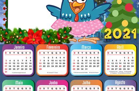 Calendário 2021 Feliz Natal Galinha Pintadinha Saia Rosa