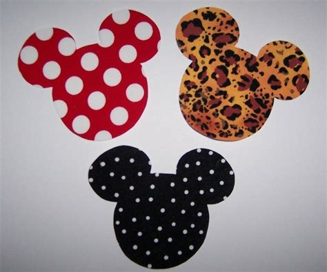 fabric applique template  mickey minnie mouse heads