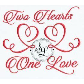 hearts  love machine embroidery