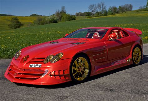 mercedes benz slr mclaren  red gold dream ueli