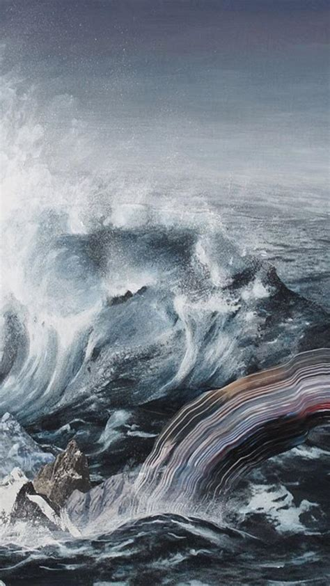 paintings landscapes surrealism artwork sea adam friedman