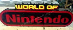World of Nintendo Neon Sign Classicgamesblog