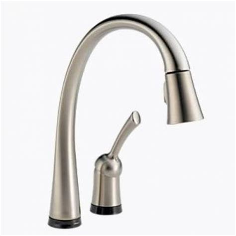 delta touch20 kitchen faucet delta pilar single handle pull down kitchen faucet with touch20 stainless