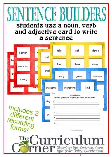 sentence builder cards  curriculum corner