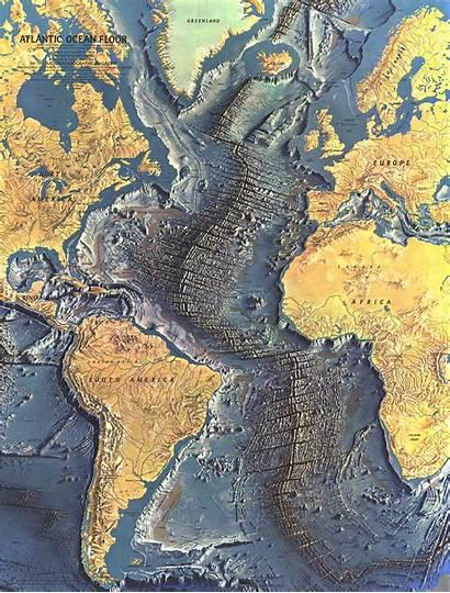Atlantic Ocean Map Floor Maps Mappery Topography