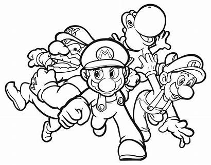 Coloring Pages Super Mario Cool Printable