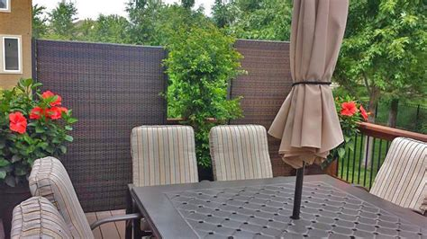 outdoor wicker privacy screen partition portable