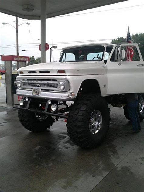 jacked  truck images  pinterest pickup