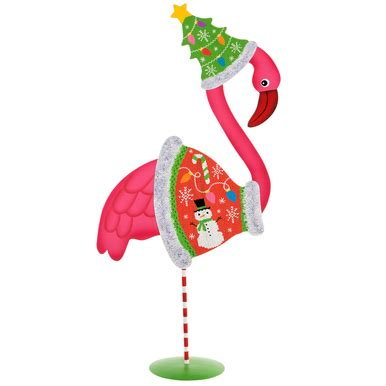 dress  pink flamingo decoration  ugly christmas sweater