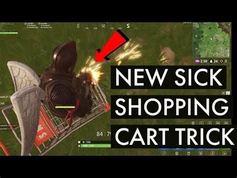 new sick shopping cart trick fortnite tips and tricks