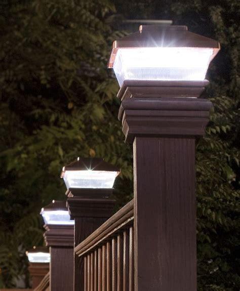 post lights for decks 18 best fence post lights images on solar