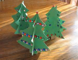almost unschoolers simple christmas craft 3d cardboard christmas trees