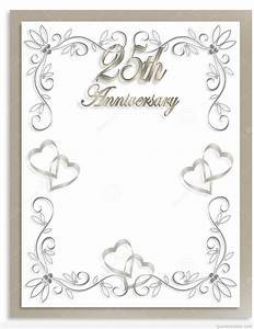 free printable 25th wedding anniversary invitations mini With free printable silver wedding anniversary invitations