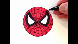 How to Draw a Spider-Man Smiley Face - Easy for Beginners ...