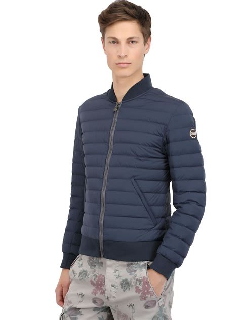light bomber jacket mens colmar originals quilted light nylon down bomber jacket in