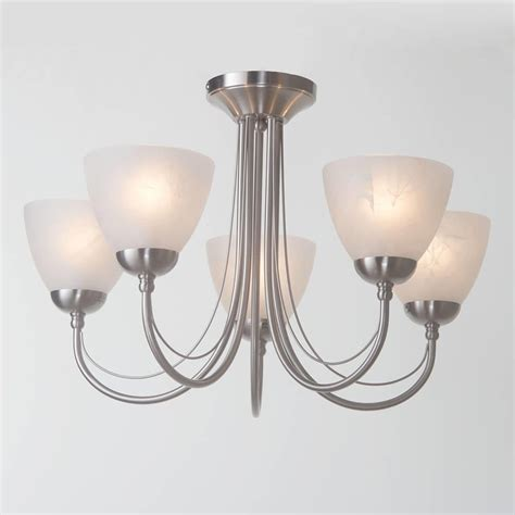 barcelona flush ceiling light 5 light satin chrome