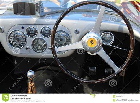 ferrari interior dashboard gauges editorial stock