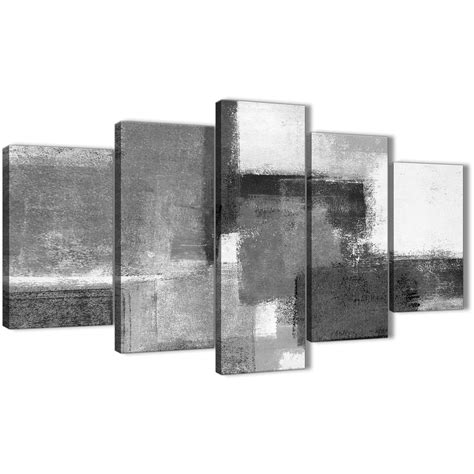Black And White Abstract Uk by 5 Black White Grey Abstract Dining Room Canvas