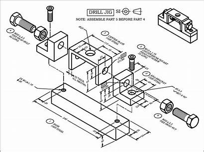 Drawing Tolerance Engineering Assembly Exercise Milling Types