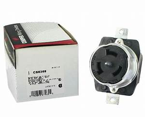Arrow Hart Div Cooper Cs6369 3 Pole 4 Wire 50a 125  250v Locking Receptacle