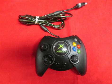 original microsoft oem xbox fat black duke controller
