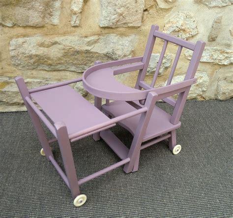chaise haute en bois ancienne chaise haute pour poupée en bois pictures to pin on