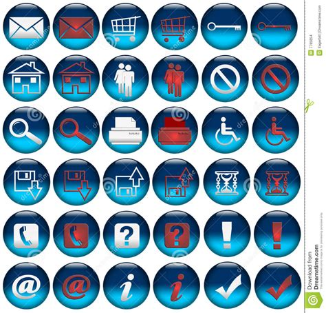 web rollover iconsbuttons stock images image