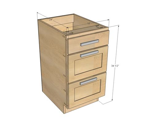 kitchen cabinet drawer ana white 18 quot kitchen cabinet drawer base diy projects