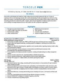 environmental health and safety resume exles professional safety and environmental professional templates to showcase your talent