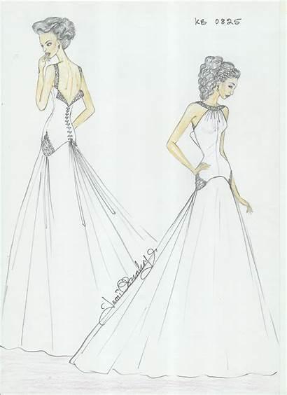 Curvy Sketch Couture Evening Slim Bridal Wear