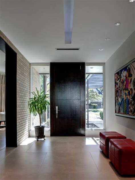 Modern Foyer Ideas by Large Front Door Houzz