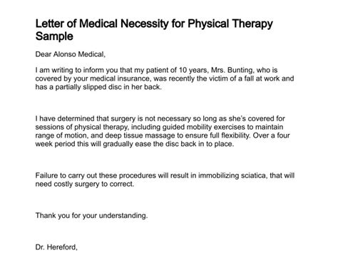 appeal letters  physical therapy