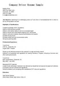 resume for company driver driver resumes company driver resume sle