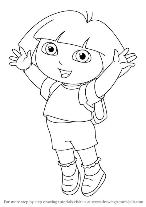 learn   draw dora marquez  dora  explorer
